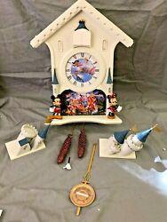 Bradford Exchange Disney Cinderella Castle Wall Clock With 40 Friends DAMAGED