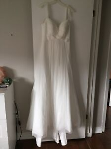 White wedding dress -David's bridal