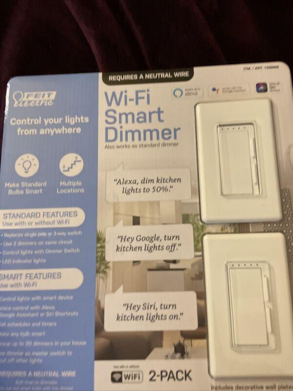 Feit Electric Wi-Fi Smart Dimmer 3-way Switch 2 Pack, Siri & Alexa & Google