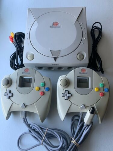 Sega Dreamcast Console Japan Import HKT-3000 US Seller with Cords + Controllers