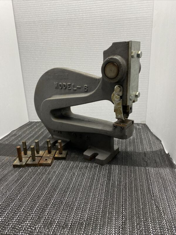 Heinrich Deep Throat Metal Stamping Punch Model 6 with Round Punch Dies