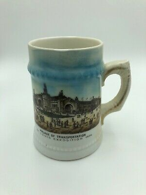1904 Exposition Porcelein Stein Louisiana Purchase Worlds Fair