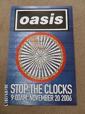 OASIS STOP THE CLOCKS ORIGINAL 2006 PROMO POSTER.