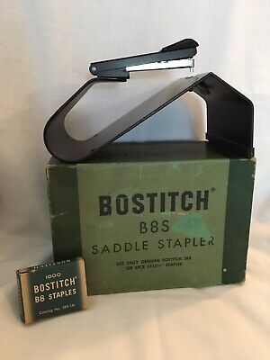 Vintage Bostitch B8sf Saddle Stapler Perfect Working Condition With Original Box