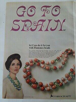 1964 Coro Corocraft Flamenco beaded beads necklace vintage jewelry ad