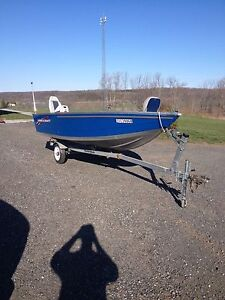 Princecraft boat motor and trailer