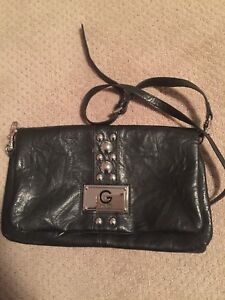 Guess black never used bag