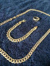 18ct bracelet & ring 9ct gold chain HEAVY Sefton Bankstown Area Preview