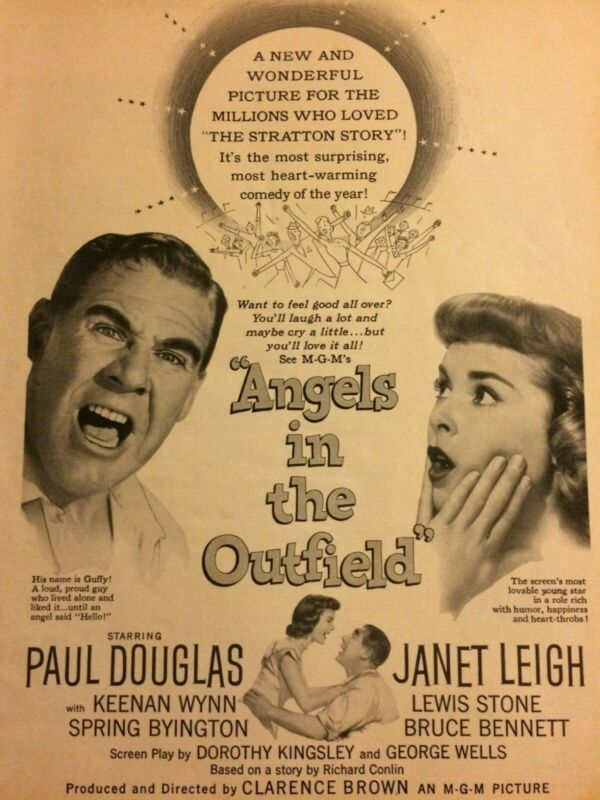 Angels in the Outfield, Janet Leigh, Full Page Vintage Promotional Ad