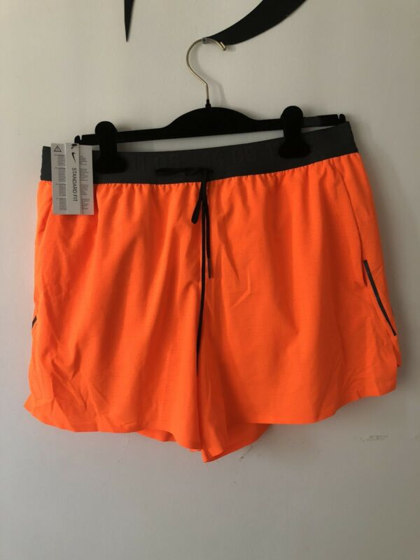 NEW NIKE Tech Pack Men Running Orange Black Shorts AQ6470-803 XXL