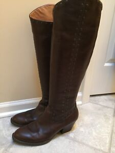 Women's Børn Leather Boots Size 10