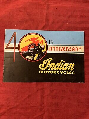 Indian Motorcycle Brochure 1941 40TH Anniversary Four Chief Scout Manaul