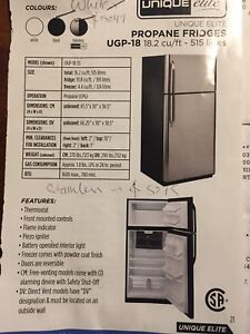 Off grid stainless steel 18.2 cu/ft propane fridge