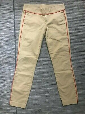 J Crew Womens 0 Piped Andie Chino Pants Cotton/Spandex 08630