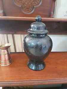 Black detailed decorative urn Campbelltown Campbelltown Area Preview