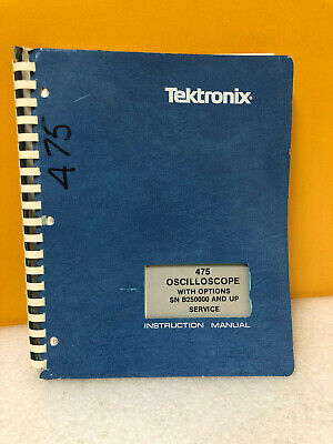 Tektronix 070-1862-00 475 Oscilloscope W Options Service Instruction Manual