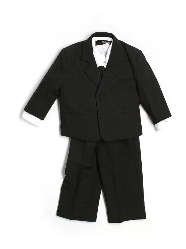 Baby Boy Gino Giovanni 4 Piece Tuxedo Wedding Suit Tie Vest Jacket Size L 12/18