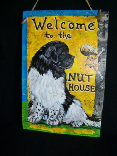 "Custom painted ""NUT HOUSE"" SIGN from YOUR photo hand painting dog art commission"