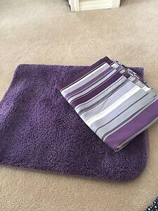 Shower curtain and mat