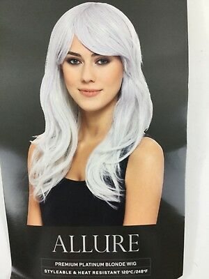 Allure Platinum Blonde Wig Premium NIP Costume Halloween Styleable Heat Resist