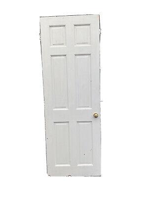 Reclaimed 6 Panel Pine Door 2ft 3inc