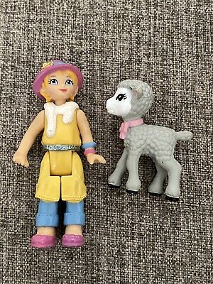 Fisher Price Sweet Streets Go Anywhere Doll Girl Mom Woman Yellow Sheep