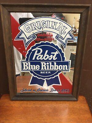 Vintage Pabst Blue Ribbon Beer Mirror