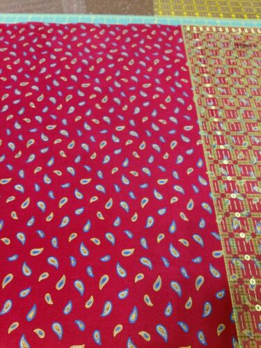 1 Yard New Fabric Shop Fabric. Paisley Corduroy. - $6.75