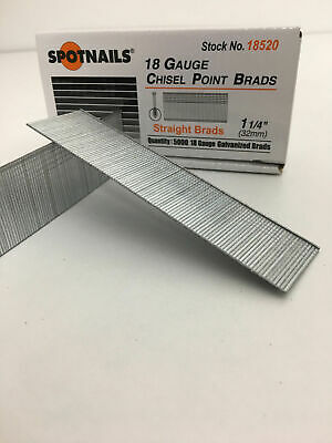 18 Gauge 1 14 Inch Brads Galvanized Brad Nails 15000 Pcs Straight Strip 18520