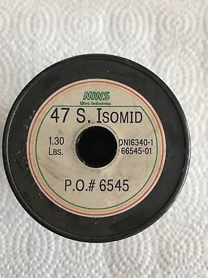 47 AWG 1.30 lbs. Copper Wire S. Isomed MWS Wire Industries