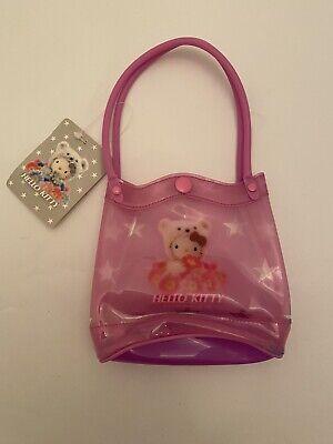 HELLO KITTY Sanrio Pink Plastic Mini Top Handle Bag Kids Girls 2004 Vtg Rare New