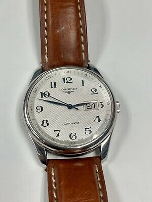 LONGINES Master Collection L2.648.4 Automatic Leather Band Men's Watch No Reserv