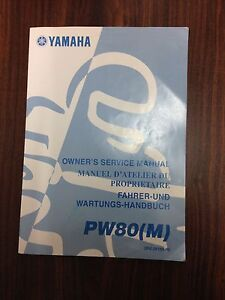 Yamaha PeeWee 80 PW80 Factory Workshop Manual Blacktown Blacktown Area Preview