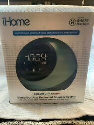 Open Box iHome IBT29 Bluetooth Blue Tooth Speaker & Alarm Clock - Black/Blue