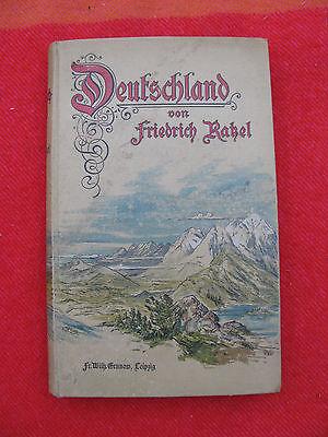 1898 Deutschland. Einführung in die Heimatkunde von Friedrich Ratzel