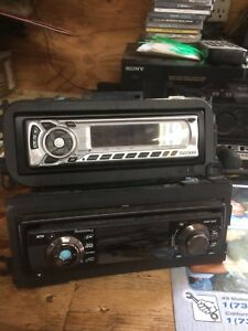 Two car stereos