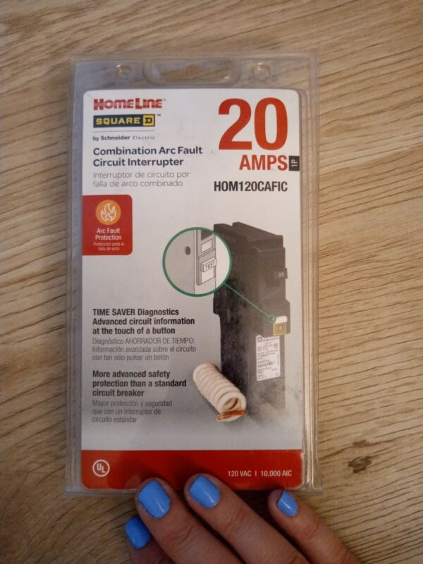 NEW🔥Square D HomelineHOM120CAFIC Homeline 20A Single-Pole CAFCI Circuit Breaker