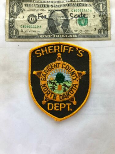 Sargent County North Dakota Police Patch un-sewn in great shape