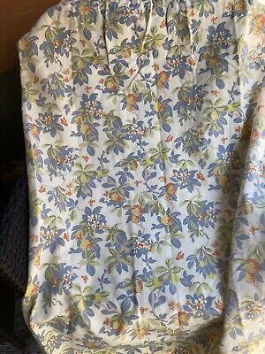 Laura Ashley Vintage Oranges Lemons Linen Curtains / Fabric W 134cm L 110cm