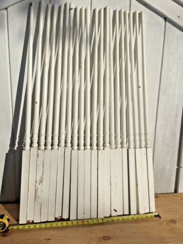 "10  Antique Vintage 42"" Wood Wooden Staircase Stair Rail Spindle Baluster"