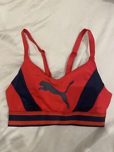 Puma Padded Sports Bra - Red