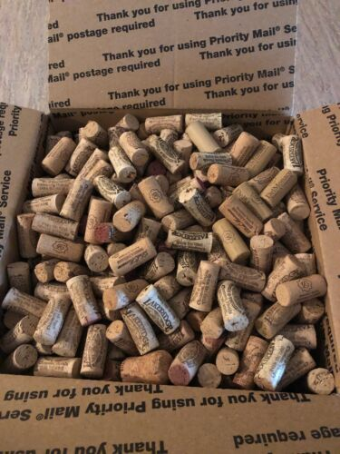 785 pre-owned corks, 10 pound box of pre-owned Corks
