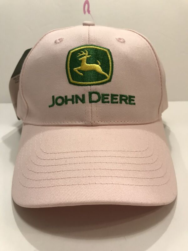 JOHN DEERE LADIES PINK Embroidered CAP HAT BRAND NEW Green Logo Women's TRUCKER