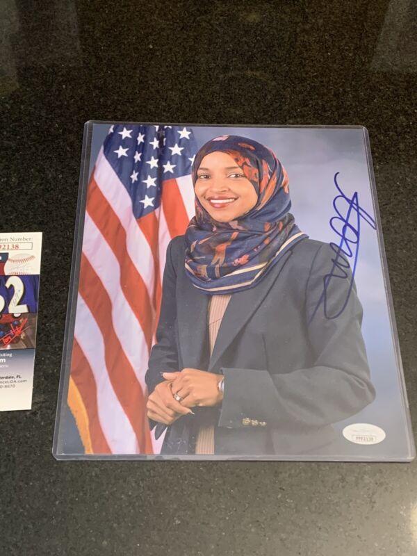 Ilhan Omar Autographed SIGNED 8x10 Photo Congress Democrat The Squad AOC JSA