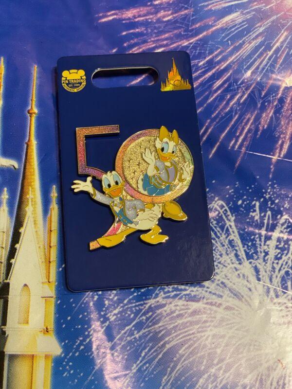 WDW 50th Anniversary Donald and Daisy Walt Disney World Pin