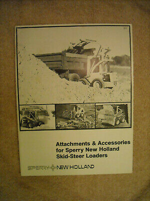 New Holland Attachments Accessories For Skid Steer Loaders L 325 L 425 L 445