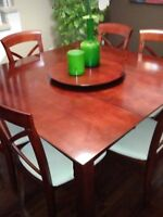 Moving sale,7 pieces Dining table set,curio/Display cabinets