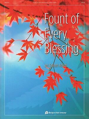 FOUNT OF EVERY BLESSING PIANO SHEET MUSIC SONG BOOK