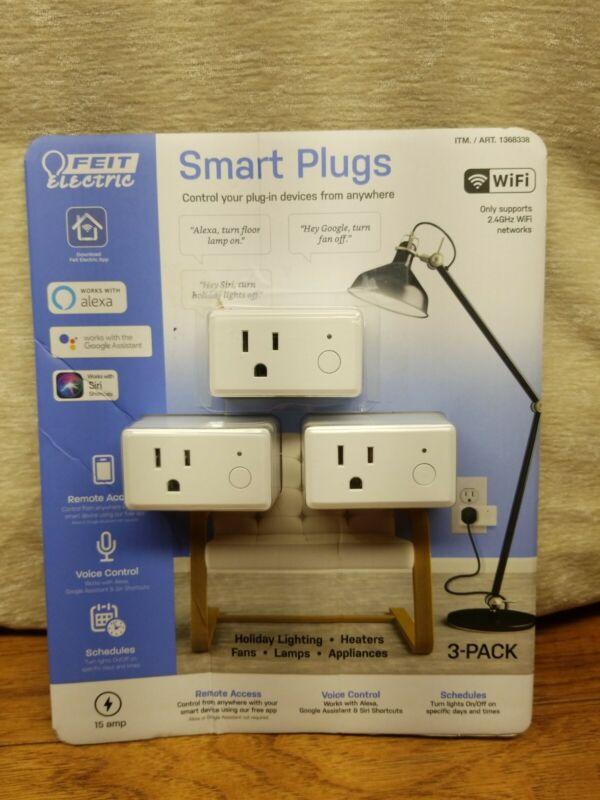 3-pack Feit Electric Wifi Smart Plug Alexa or Google Home