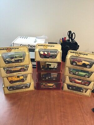 matchbox models of yesteryear lot Of 12 Cars With Box.